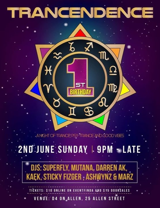 Party Flyer Trancendence 2 Jun '19, 21:00