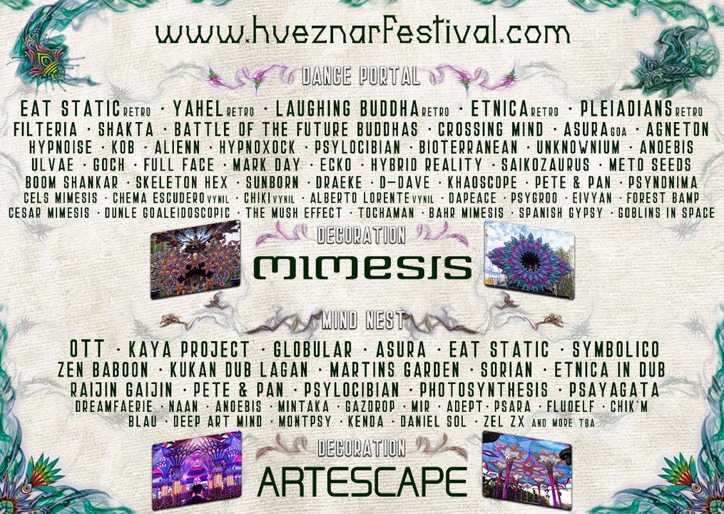 Party Flyer Huéznar Festival 2019 5 Jun '19, 12:00
