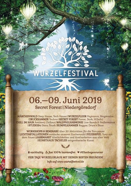 Party Flyer Zurück zu den Wurzeln Festival 2019 6 Jun '19, 18:00