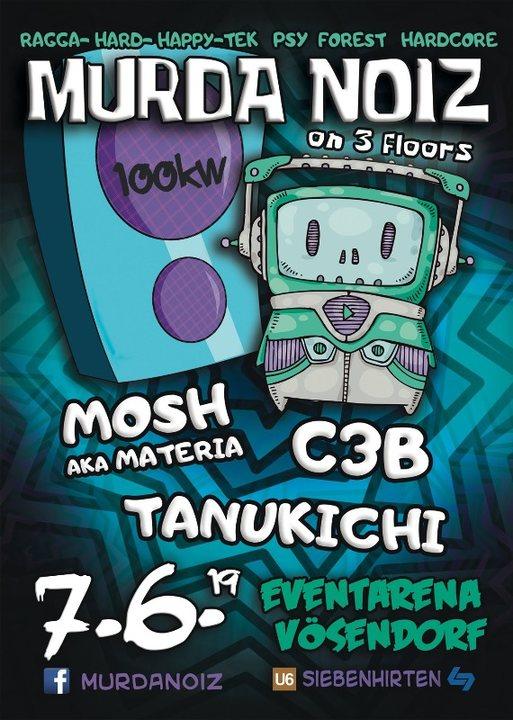 Party Flyer MURDA NOIZ Tek-Psy-Core Party coming back 7 Jun '19, 22:00