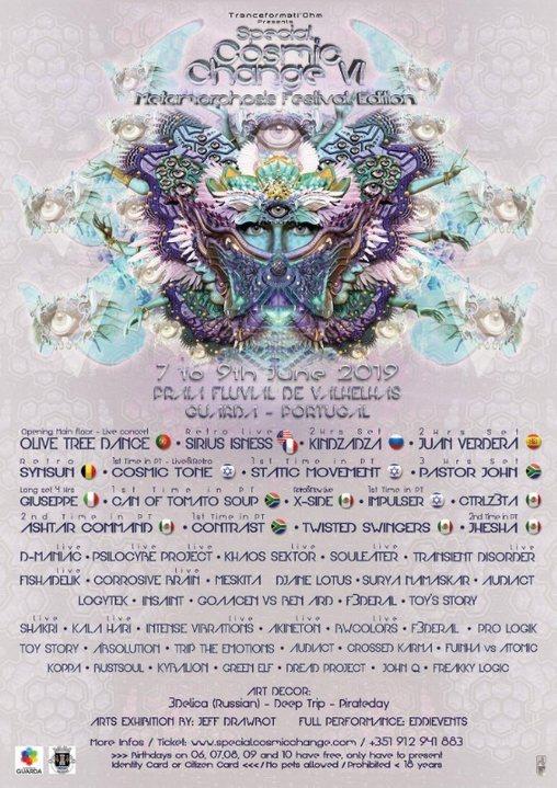 SPECIAL COSMIC CHANGE VI - Metamorphosis Festival Edition 7 Jun '19, 14:00