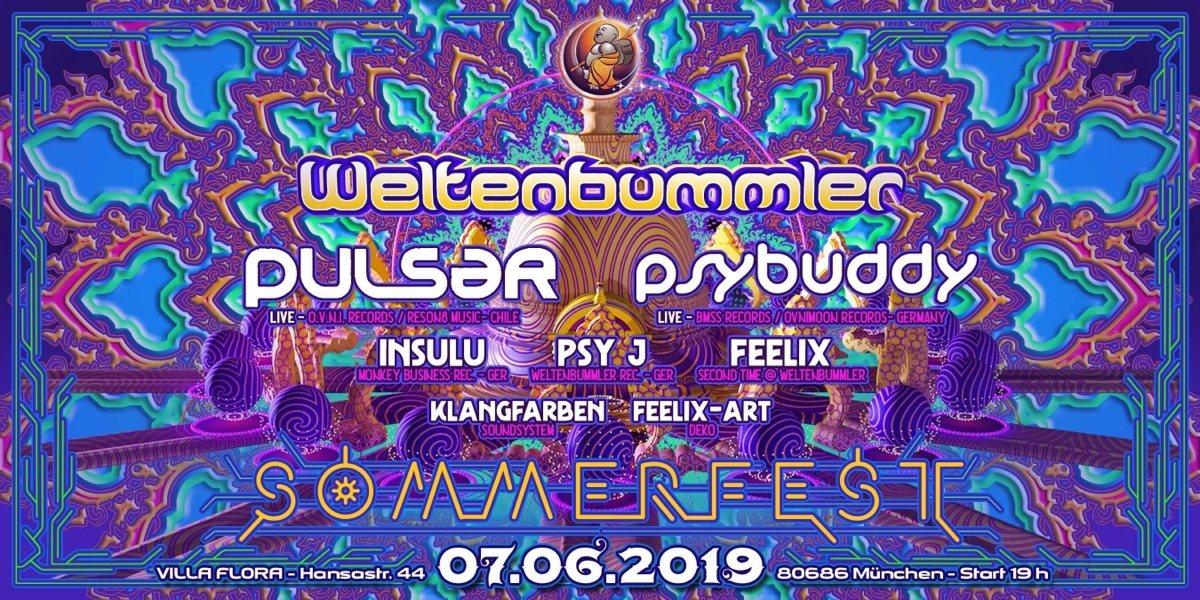Party Flyer Weltenbummler's Sommerfest 7 Jun '19, 19:00
