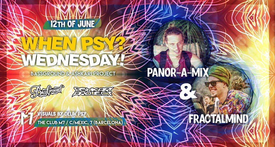 Party Flyer When Psy? W! Panor-a-mix & Fractalmind 12 Jun '19, 23:30