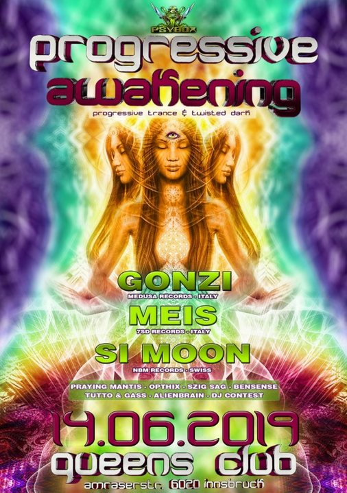 Psybox - Progressive Awakening with GONZI - SI MOON - MEIS 14 Jun '19, 22:00