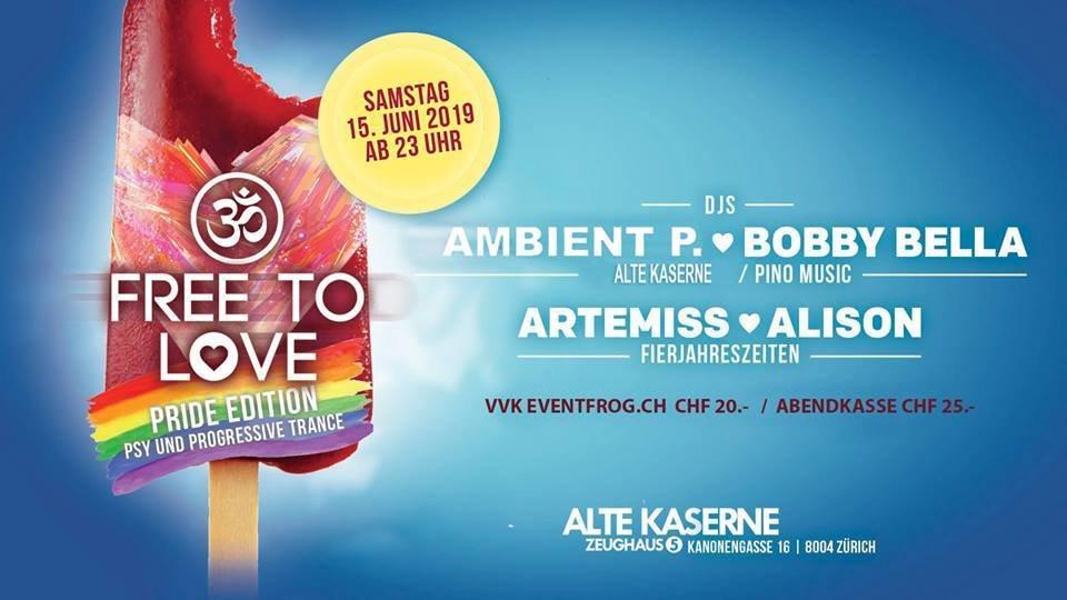 Party Flyer FREE TO LOVE - PRIDE EDITION 15 Jun '19, 23:00