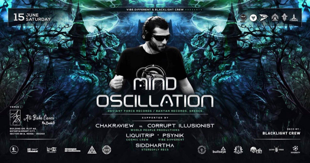 Party Flyer Mind Oscillation Live in Delhi 15 Jun '19, 21:00