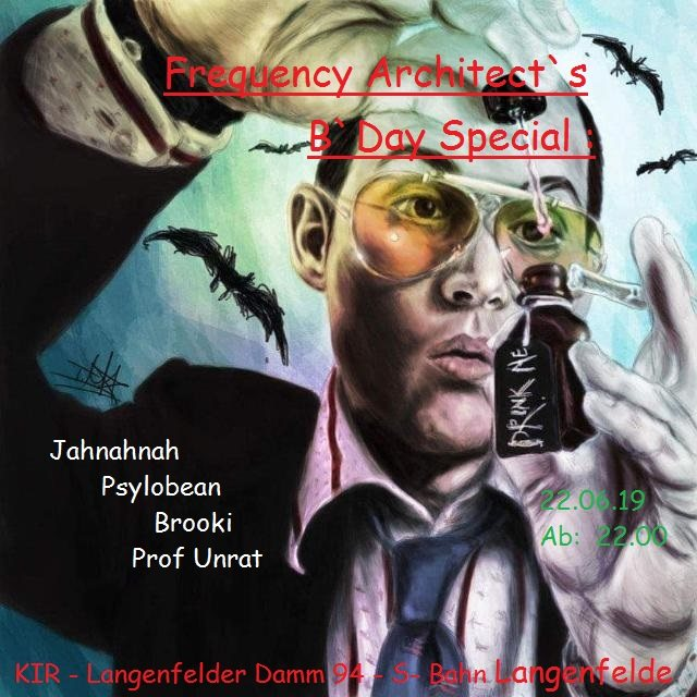 Party Flyer Frequencey Architect`s B`Day Special 22 Jun '19, 22:00