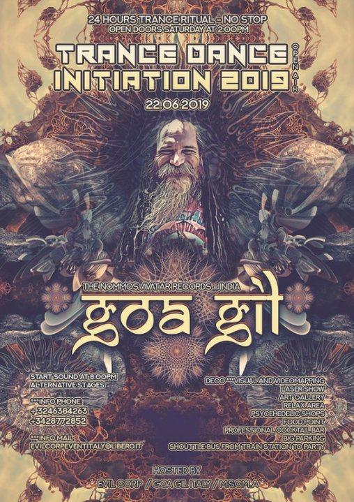 Party Flyer Goa Gil 24h / Trance Dance Initiation 2019 Open Air 22 Jun '19, 14:00