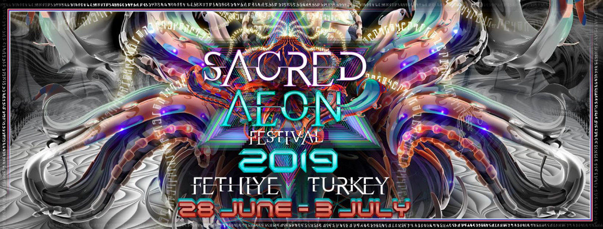 Party Flyer Sacred Aeon Festival 2019 28 Jun '19, 18:00