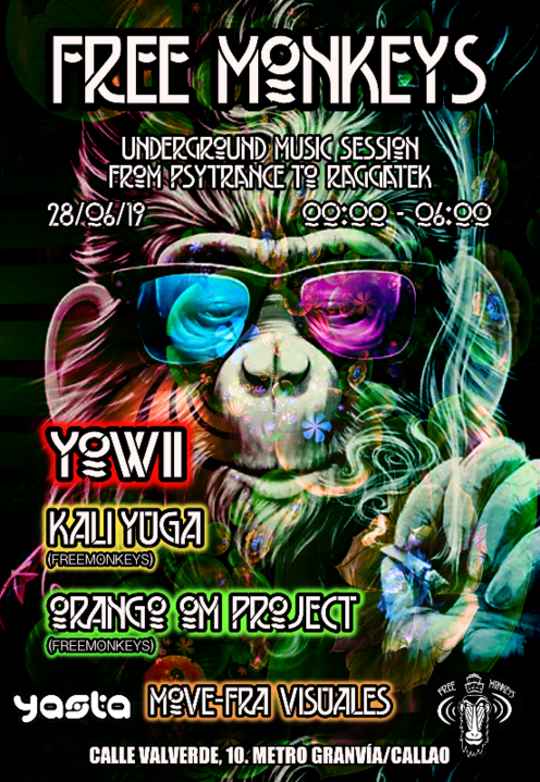 Party Flyer Underground Music Session: from Psytrance to Raggatek 28 Jun '19, 23:30