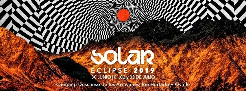Party Flyer Solar Eclipse total 2019 Rio Hurtado Chile 30 Jun '19, 22:00