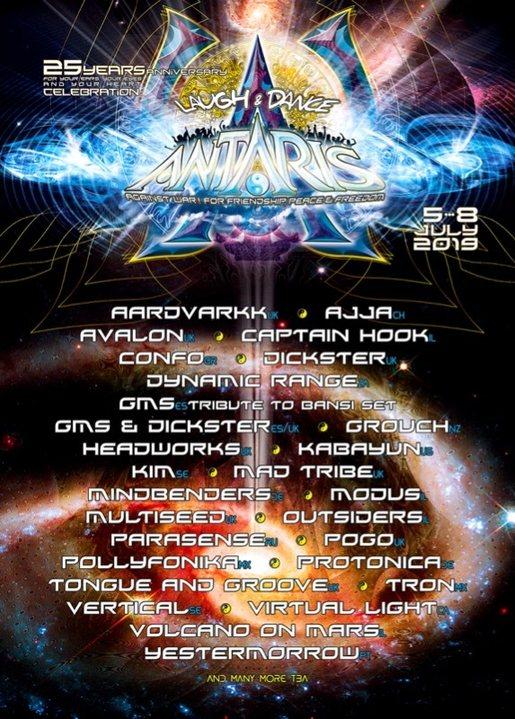 Party Flyer 25. Antaris Project 5 Jul '19, 11:00