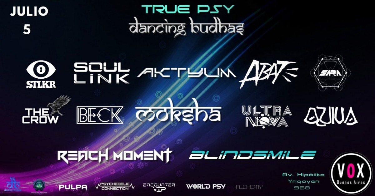 Party Flyer Dancing Budhas & True Psy 5 Jul '19, 23:30