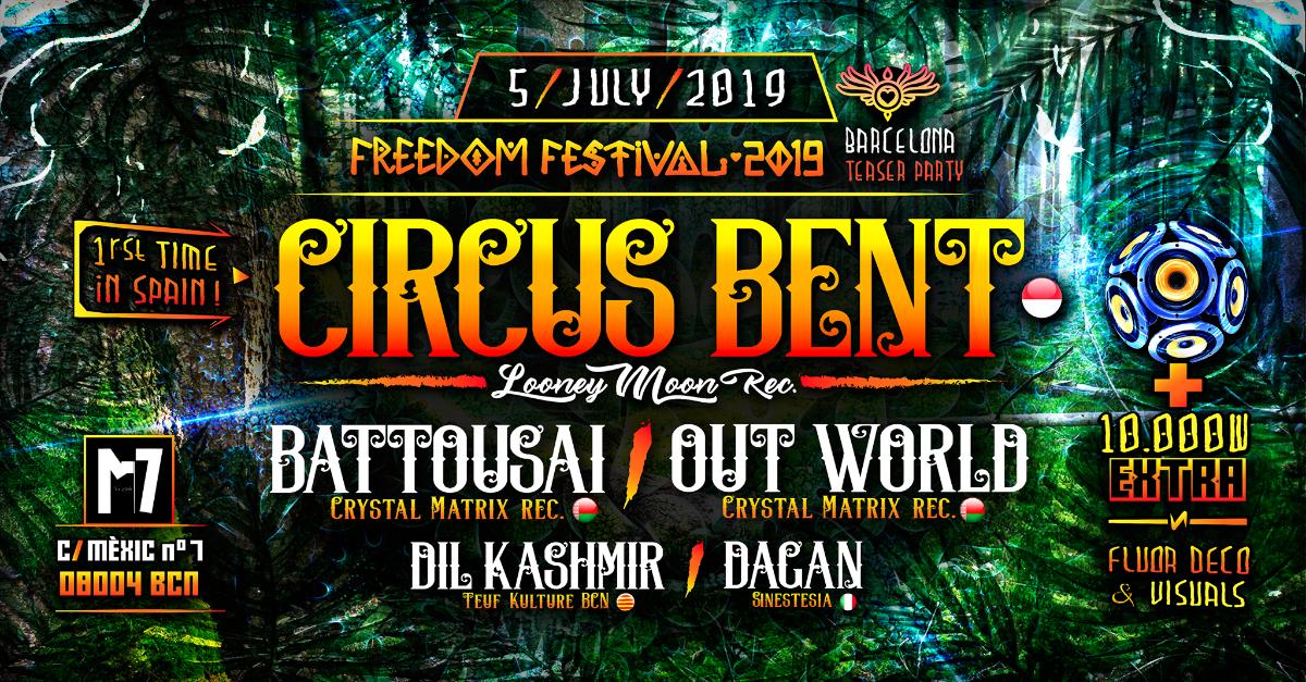 Party Flyer Freedom Festival teaser Party in Barcelona 5 Jul '19, 23:30