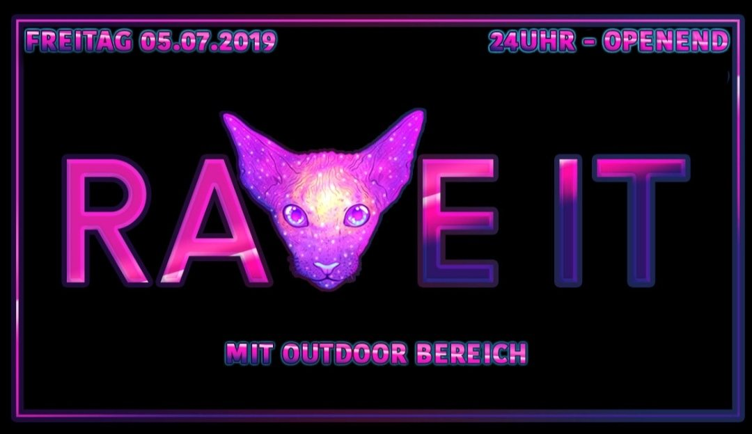Party Flyer OUTDOOR ૐ RAVE IT 5 Jul '19, 23:00