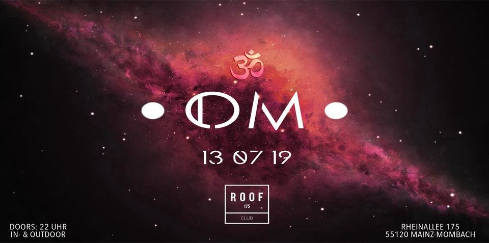 Party Flyer •OM• The sound of Universe 13 Jul '19, 23:00