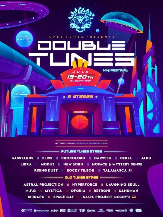 Party Flyer Double Tunes   18 Hours of Psychedelic Experience 19 Jul '19, 23:30