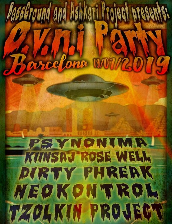 Party Flyer OVNI Party in BCN : Tzolkin Project & more ! 19 Jul '19, 23:30