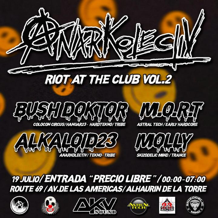 Party Flyer Riot at the club Vol.2 19 Jul '19, 23:30
