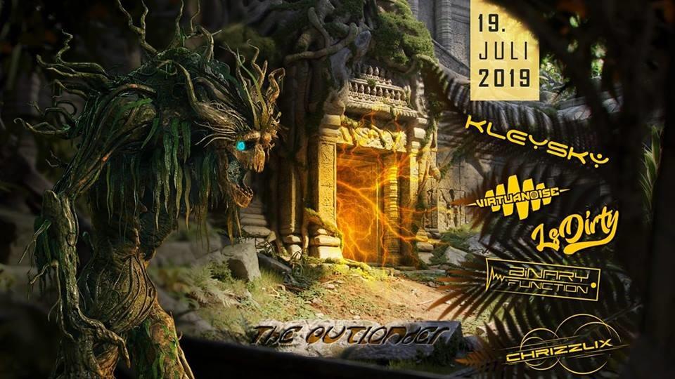 Party Flyer TheOutlander Festival | w/ Virtuanoise, LsDirty, Kleysky uvm. 19 Jul '19, 22:00