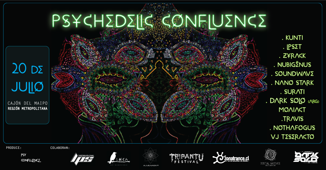 Party Flyer ॐ PSYCHEDELIC CONFLUENCE ॐ 20 Jul '19, 18:00