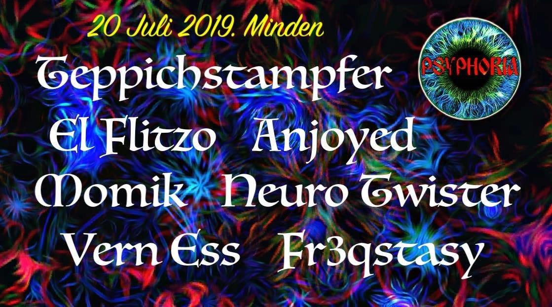 Party Flyer Psyphoria in Porta Westfalica - Outdoor & free entry 20 Jul '19, 18:00