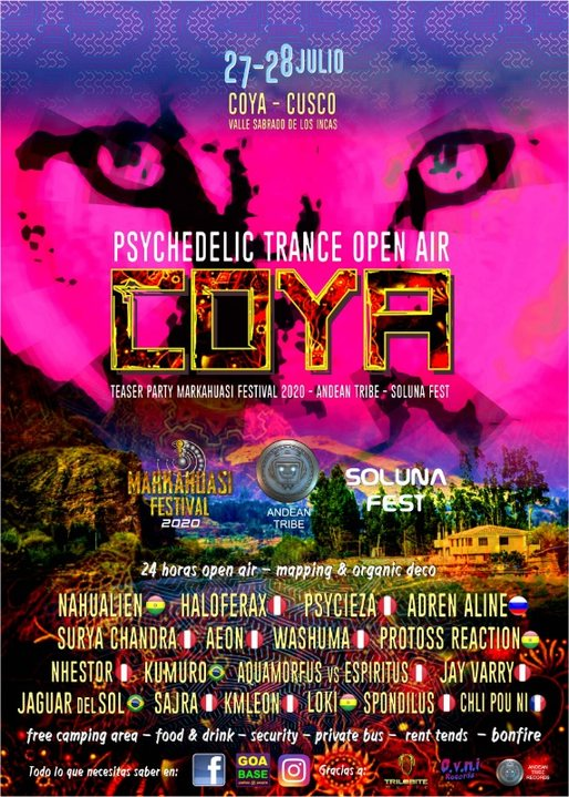 Party Flyer COYA Psychedelic Trance Open Air 27 Jul '19, 14:00