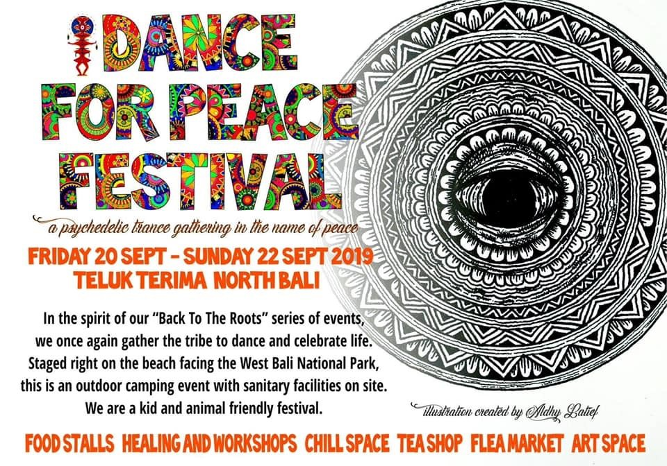 Party Flyer Dance For Peace - Warmup! 2 Aug '19, 17:00