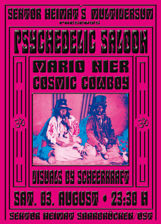Party Flyer Psychedelic Saloon @ Sektor Heimat 3 Aug '19, 23:30