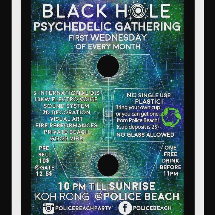 Party Flyer Black Hole Psychedelyc Gathering 7 Aug '19, 22:00
