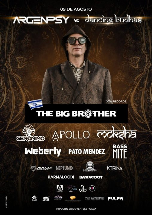 Party Flyer Dancing Budhas & Argenpsy presents The Big Brother 9 Aug '19, 23:30