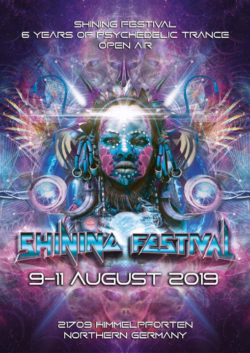 Party Flyer Shining Festival 2019 9 Aug '19, 14:00