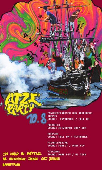 Party Flyer Atzeparty 10 Aug '19, 22:00