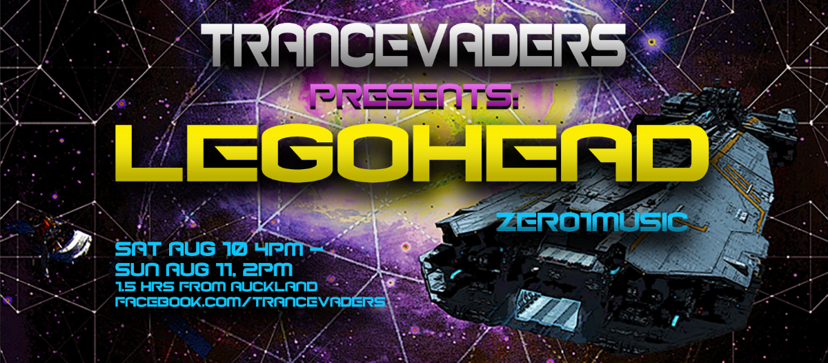 Party Flyer Trancevaders presents-LEGOHEAD 10 Aug '19, 16:00