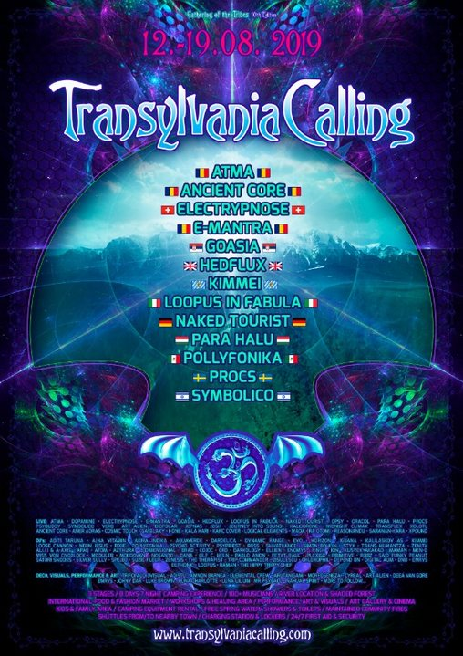 Party Flyer Transylvania Calling - Gathering of the Tribes / 10th Edition 12 Aug '19, 11:00