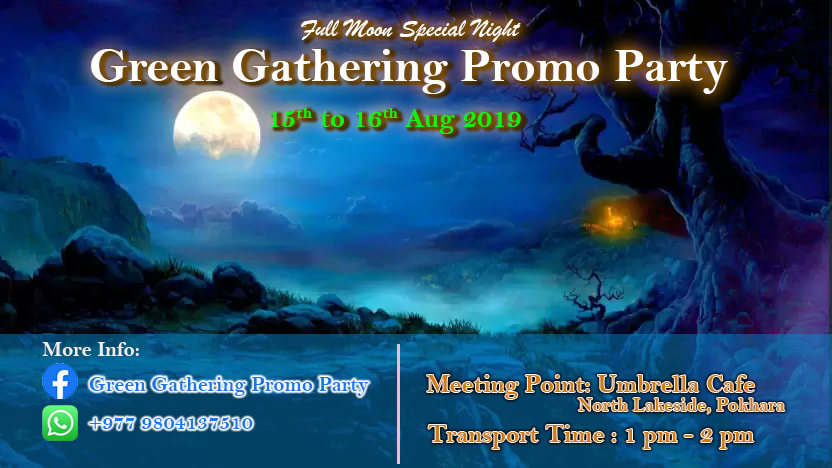 Party Flyer Green Gathering promo party 15 Aug '19, 01:30