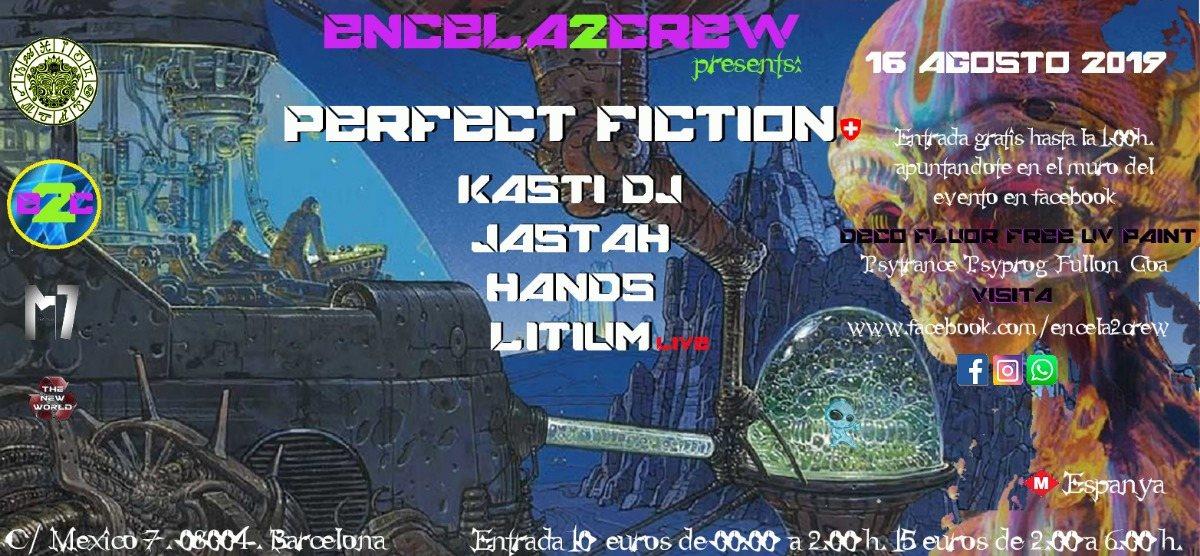 Party Flyer ENCELA2CREW presents: PERFECT FICTION 16 Aug '19, 23:30