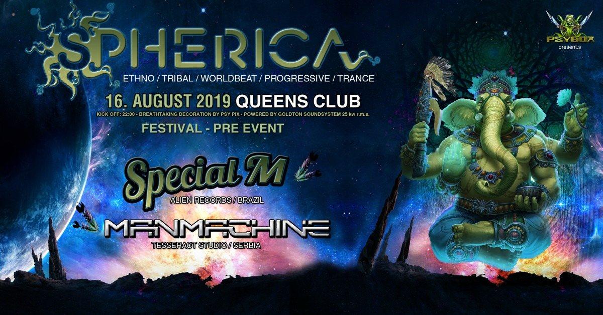 Party Flyer Psybox pres. Shperica Festival Pre Event 16 Aug '19, 22:00