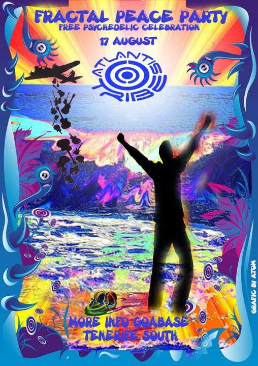 Party Flyer FRACTAL PEACE PARTY - Atlantis Tribe 17 Aug '19, 22:00