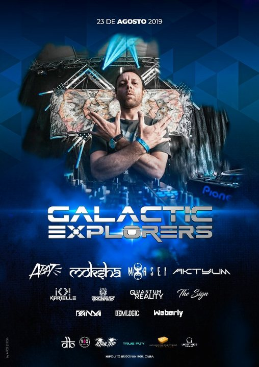 Party Flyer Dancing Budhas & True Psy features Galactic Explorers in Argentina 23 Aug '19, 23:30