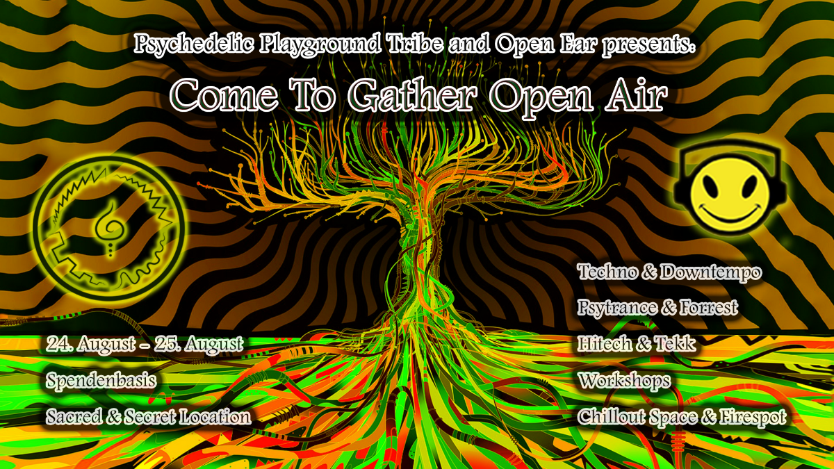Party Flyer Come to Gather - An Open Playground #1 24 Aug '19, 14:00