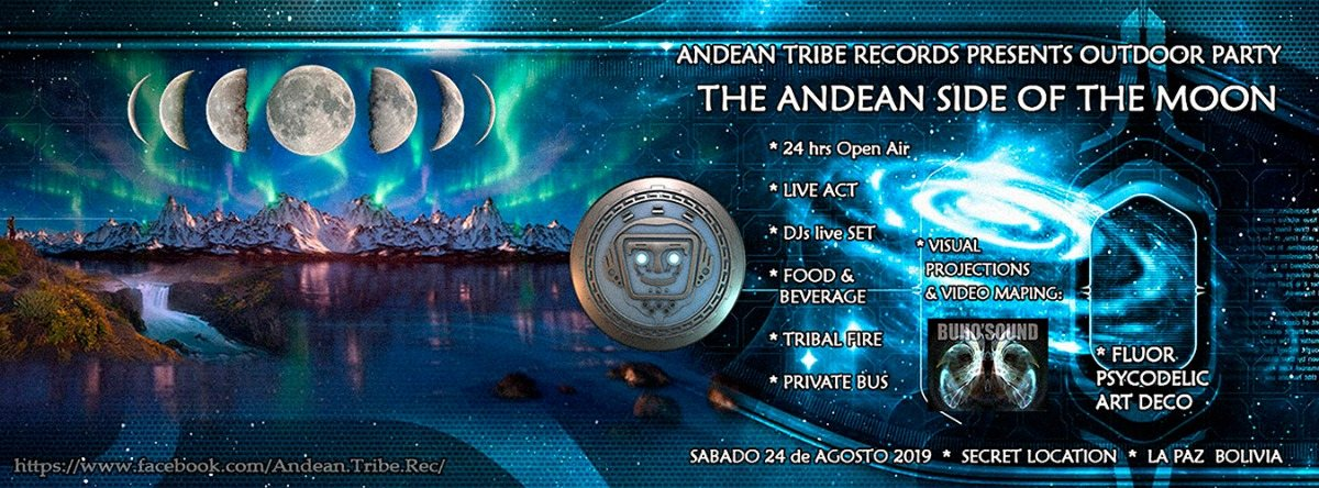 Party Flyer The Andean Side of The Moon 24 Aug '19, 16:00