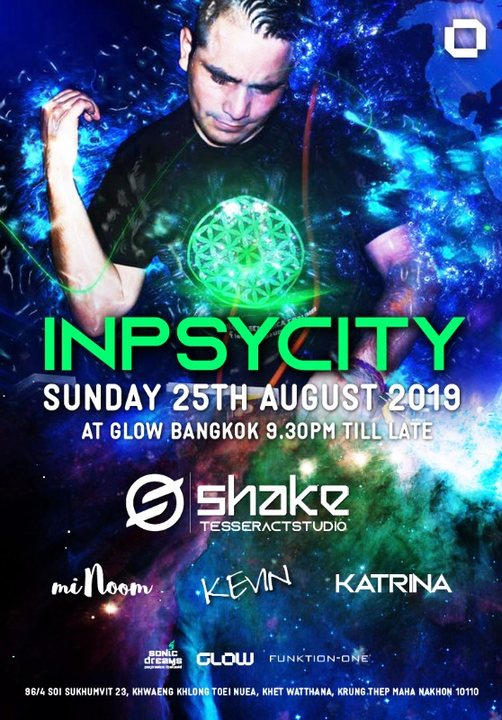 Party Flyer GLOW Sunday w/ Inpsycity 25 Aug '19, 21:30