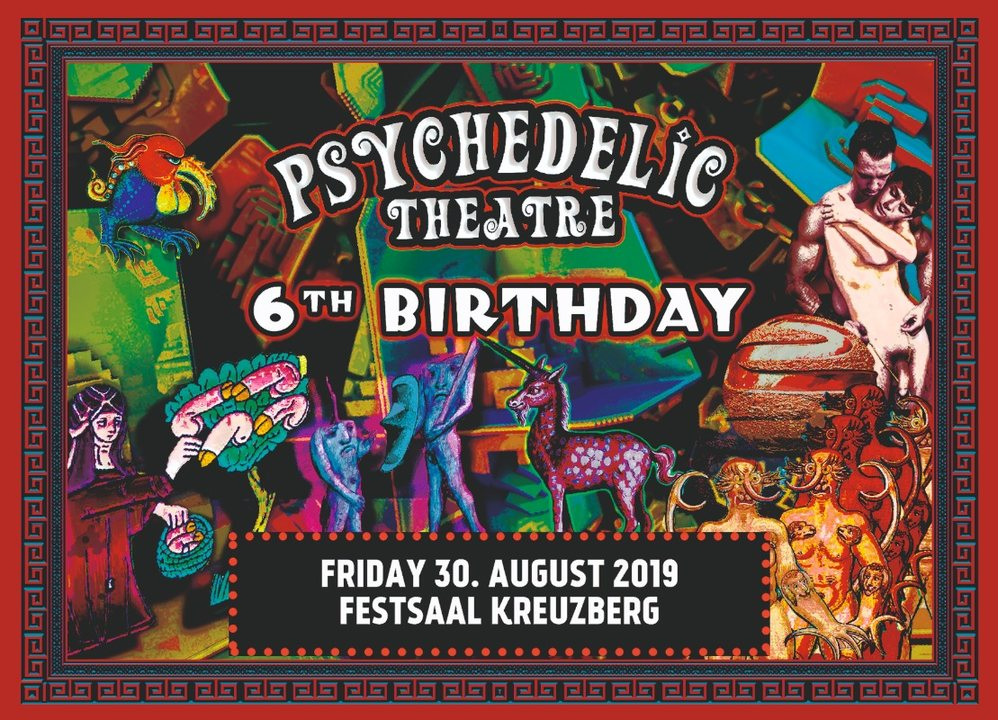 Party Flyer 6 years Psychedelic Theatre 30 Aug '19, 23:00