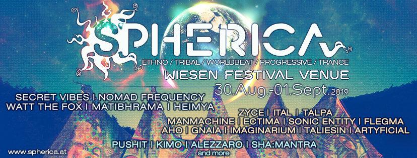 Party Flyer SPHERICA Festival 2019 30 Aug '19, 15:00