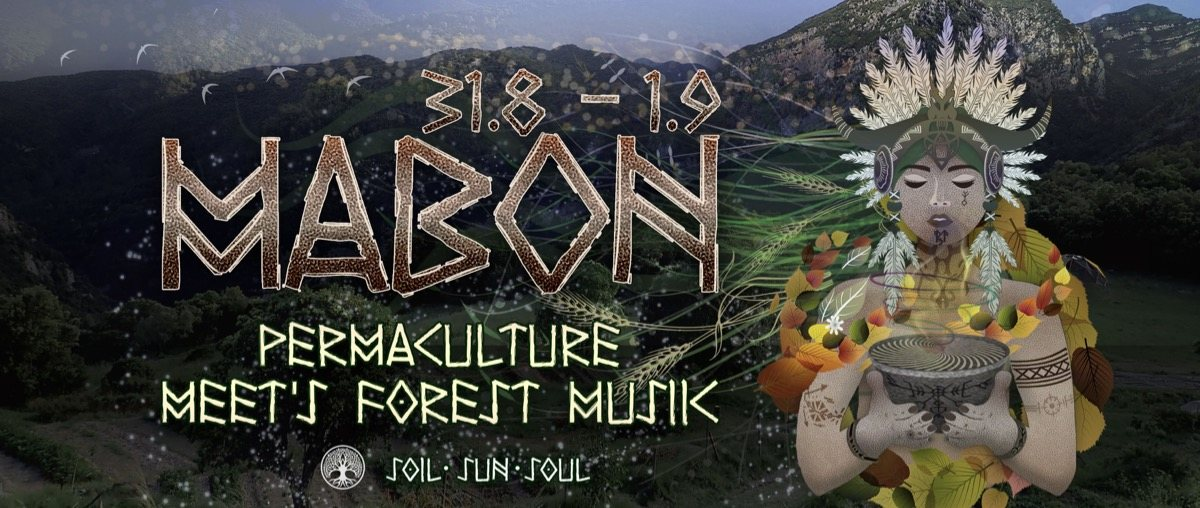 Party Flyer Mabon - Permaculture meet´s Forest Music 31 Aug '19, 18:00