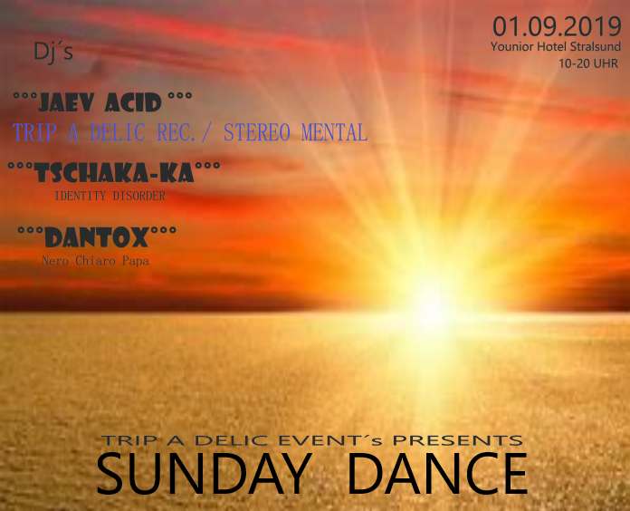 Party Flyer SUNDAY DANCE 1 Sep '19, 10:00