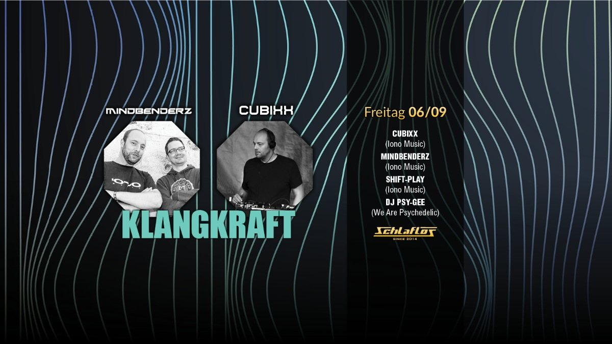 Party Flyer Klangkraft W/ Mindbenderz & Cubixx 6 Sep '19, 22:00