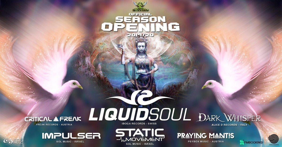 Psybox - Season Opening ॐ with LIQUID SOUL - DARK WHISPER - STATIC MOVMENT ..... 6 Sep '19, 22:00