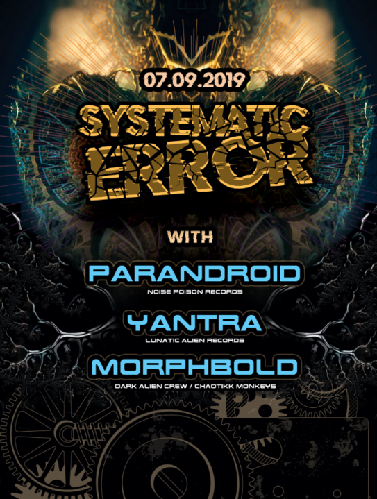 Party Flyer Systematic Error with Parandroid & Yantra 7 Sep '19, 22:00